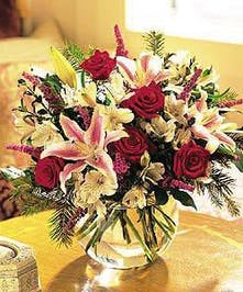 Elegant stargazers and roses.