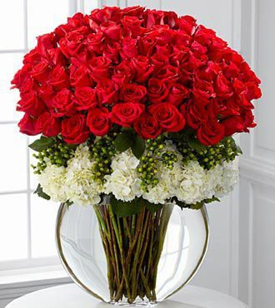 Lavish luxury rose bouquet dallas hurst fort worth 24 long stem red roses and white hydrangea flowers with green hypericum berries in a izmirmasajfo