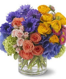 A lush mix of spring flowers.