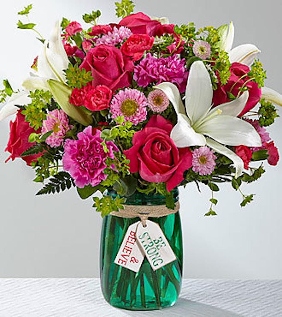 Be Strong Believe Inspirational Flowers Bices Florist