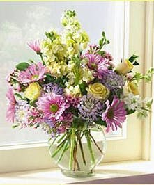 A classic assortment of pastel flowers.