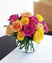 A bright and beautiful design of roses.