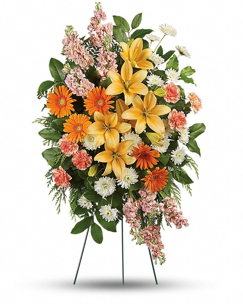 Treasured lilies bices fort worth dallas funeral flowers izmirmasajfo