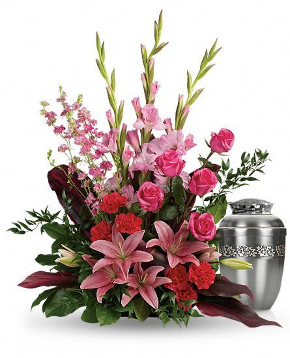 Adoring Heart Sympathy Arrangement Funeral Flowers Hurst
