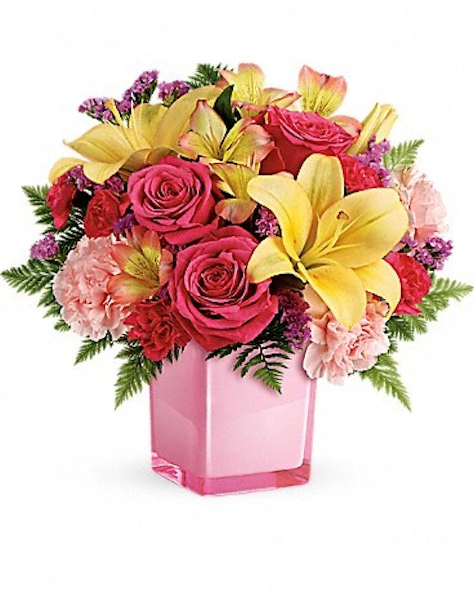 Pop Of Fun Birthday Flower Cube Bices Florist