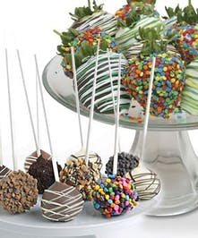 Cake Pops and Berries