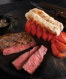 6-7 oz Maine Lobster Tails & 8 oz Flat Iron Kobe for 2
